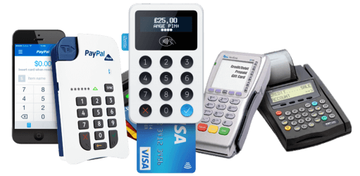collection of business card machines